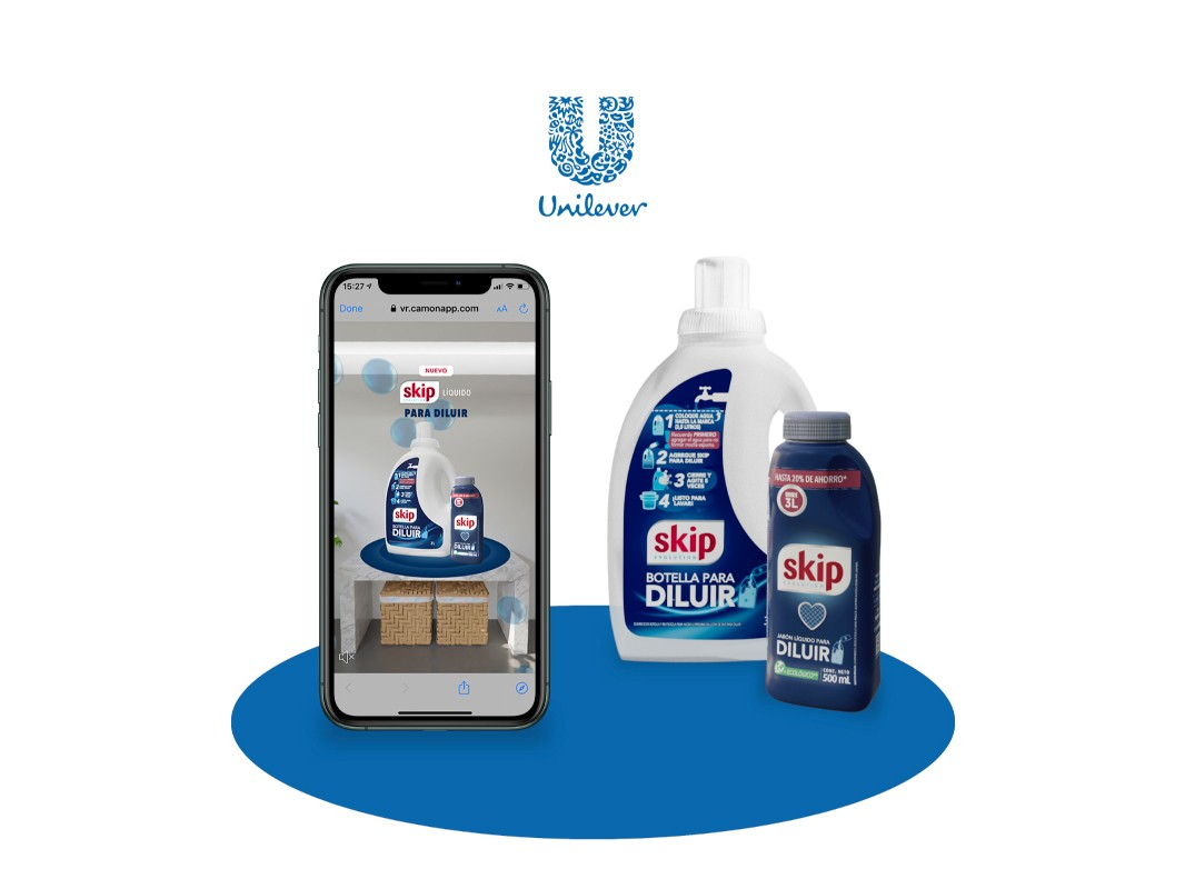 skip unilever realidad aumentada augmented reality